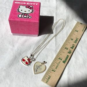 Hello kitty Olaf necklace silver chain heart cute
